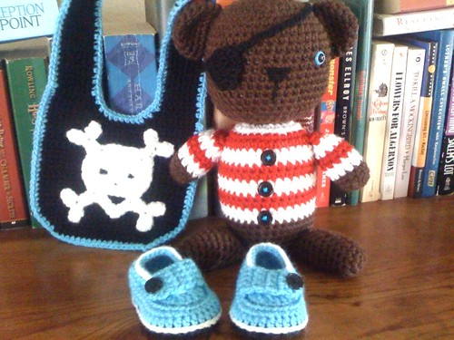 Crochet Pirate Baby Shower Gift