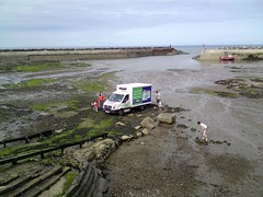 Asda Grocery Van Runs Aground