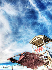 The Lifeguard // HDR (Tomasito.!) Tags: tower beach clouds vibrant philippines lifeguard touri