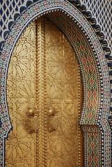 Fez (alexander howell) Tags: door gold gates fez knocker royalpalace