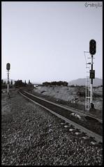 esa curva.... (T- simple) Tags: espaa blanco tren nikon foto negro paisaje andalucia granada simple albolote vias d40