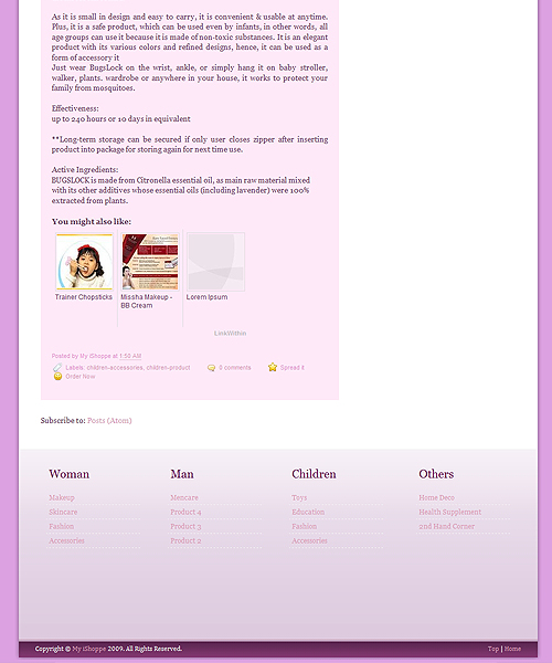 My iShoppe Footer Layout