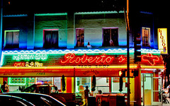 Roberto's Taco Shop in Mission Beach San Diego (oybay©) Tags: california light food color beach colors shop night restaurant neon sandiego mexicanfood mexican taco missionbeach robertos missionboulevard