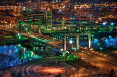 Hennepin Ave Bridge (Greg Benz Photography) Tags: hennepinavebridge hennepinavenue twincitieshdr minneapolishdr carbonsilverphotography minneapolisbridgehdr twincitiesbridges mississippiriverhdrcarbonsilverphotography