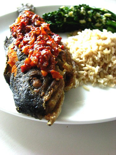 sambal oelek trout fish recipe