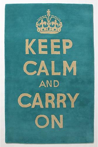 keep calm carry on rug
