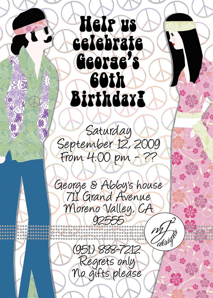 MJ Squared Designs: -- 60th Retro Birthday Invitations --