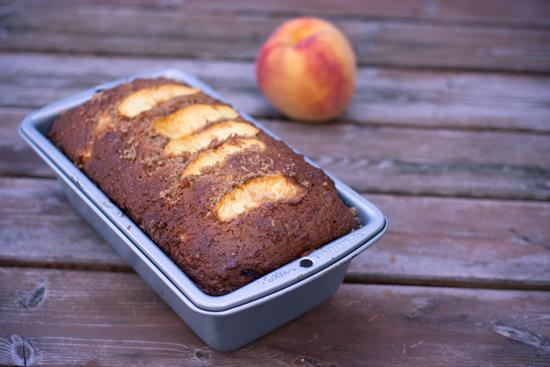 ricotta peach loaf