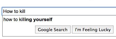 Google Suggests Suicide
