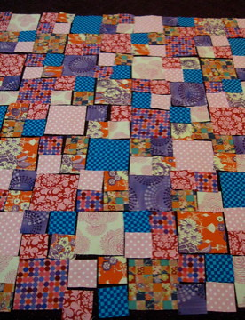 My quilt-in-progress for Project Linus