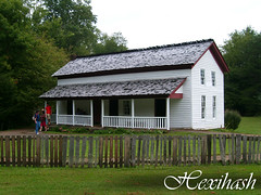 Becky Cable House (hexihash) Tags: old brown white house mountain mountains history fence photography all cove tennessee south samsung cable tourist tourists historic becky frame smokey smoky smokymountains 1879 cades cablemill johnpcable s730 forgecreekroad hexihash beckycablehouse leasongregg