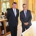 Xavier Darcos et Celestino Corbacho, Ministre Espagnol du Travail