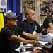 Jim Lee, Jeph Loeb, and J Scott Campbell sign for fans