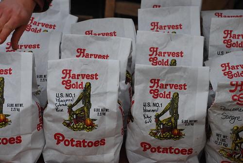 potatoes at Camden Farmers' Market