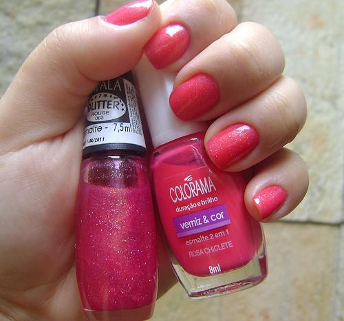 esmalte rosa chiclete