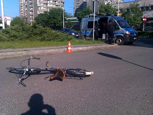 wypadek z udziałem rowerzysty to bardzo niebezpieczna sprawa
