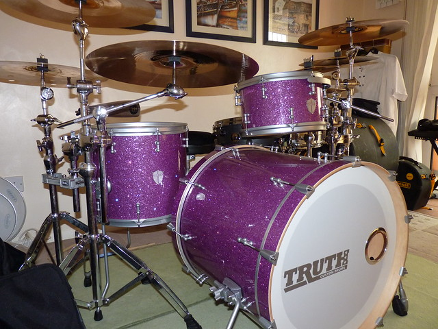 Time for an update! Purple Glass Truth drums & Soundcaster