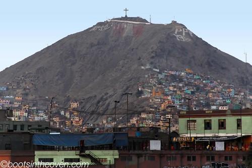 Homes climbing the hills