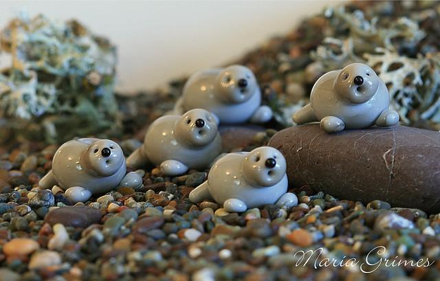 Lampwork Otters