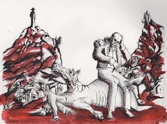 The Victory of Borodino (Jim_V) Tags: pencil ink sketch battle napoleon brushpen dippen