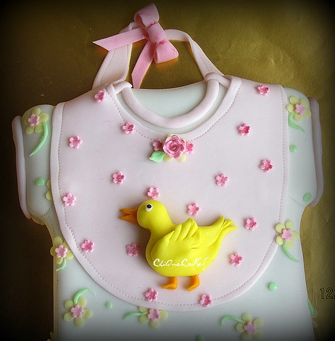 yellow duck baby bib