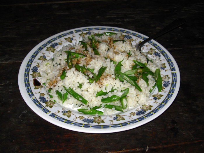 Plate of Batad rice