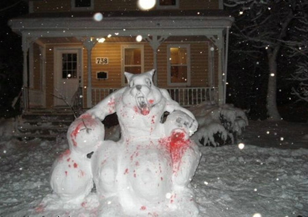 Bad wolf gets Frosty
