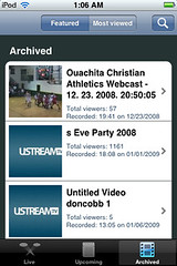 uStream - Archived -> Featured