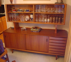 Danish Modern (jericl cat) Tags: modern furniture antique storage danish buffet hutch credenza teak