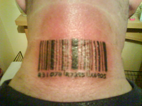 bar code tattoo tattoo by derek