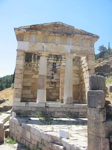 Enige serieuze tempel in Delphi