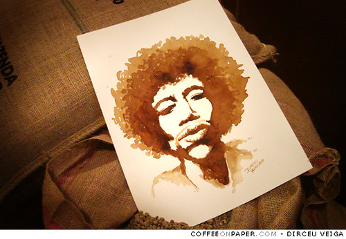 Jimi Hendrix - Coffee Painting / Fast Icon