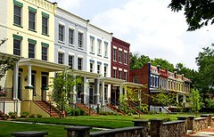 Bryan Square new construction rowhouses by EYA