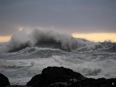 wave power (Jimmy Coupe) Tags: above county sunset storm beach humboldt surf post head rocky pacificocean coastal rough