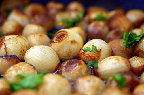port braised onions