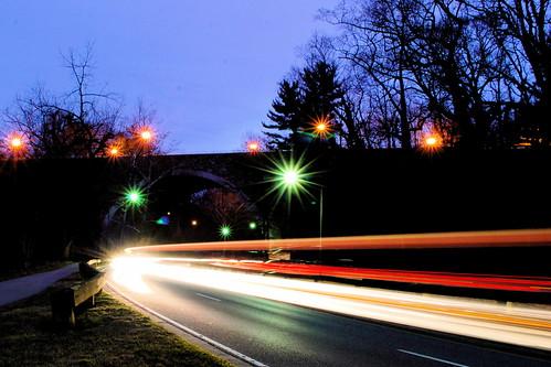 Cars at Night by M.V. Jantzen.