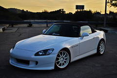 S2K1stShoot027 (ReGMiLLa) Tags: sky white car clouds honda wheels convertible spoon turbo freeway s2k s2000 jdm volk amuse gpw ce28