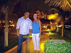 At night in Cancun (Dave DiCello) Tags: trip shadow vacation tree beach gulfofmexico night self point mexico hotel bush sand shoot pentax ghost 7 palm resort dreams cancun caribbean optio transparent ghostly timer s7 mexicovacation cancunvacation dreamvacation cancunmexico dreamscancun dreamsresortandspa dreamspalmbeach beachorseaoroceanorsandorclouds evad310 dreamsresortinmexico davedicello