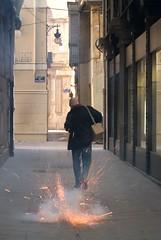 I love the smell of gunpowder in the morning. (damiancorrigan) Tags: travel valencia festival spain firework espana spark firecracker lasfallas gunpowder fallas falles despierta