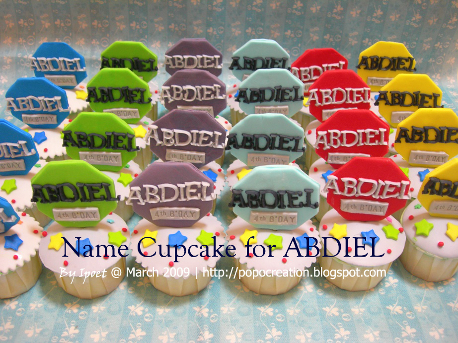 Name Cupcake for Abdiel