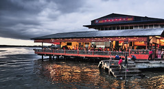 Restaurant by the river at sunset (Sutheshnathan) Tags: sunset restaurant malaysia klang klangriver sutheshnathan