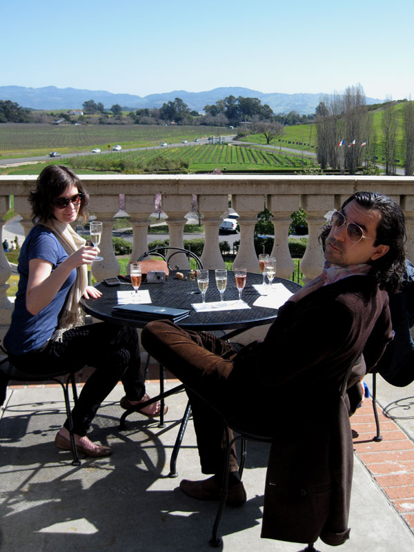 searanch: sparking wine tasting