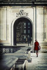 woman in red (Ben Locke) Tags: street red retro