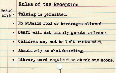 Rules of the Reception