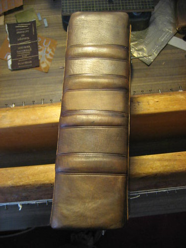 Blind stamping on the spine