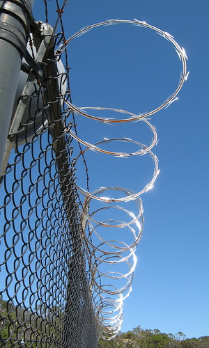 Razor wire, North Peak