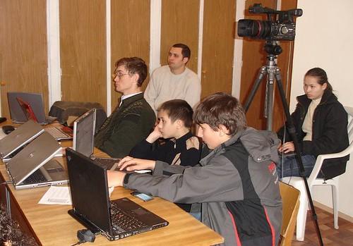 David Filat, Victor Boicu şi Sergiu Rutcovschi la seminarul Bloggerilor de la Bacioi