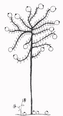 hand draw mandarina tree (g fontseca) Tags: tree pattern handmade draw mandarina ilustration