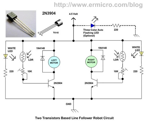 Build Your Own Transistor Based Mobile Line Follower Robot (05)