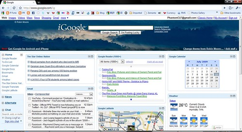 iGoogle on Google Chrome
